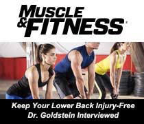 Fitness Magazine Feautures Dr. Goldstein